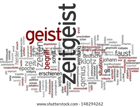 Word cloud - Zeitgeist
