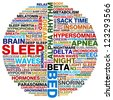 word collage about sleep - stock photo