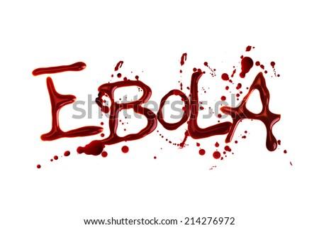 Word Ebola isolated over white background - stock photo