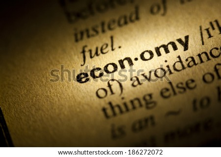 Word Economy in a dictionary - stock photo