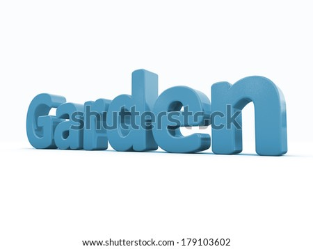 Word garden icon on a white background. 3D illustration.