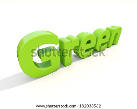 Word green icon on a white background. 3D illustration.