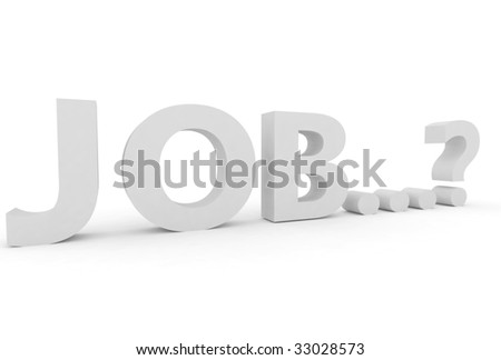 word job with a question - stock photo