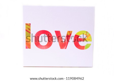 Word Love written on cardboard - stock photo