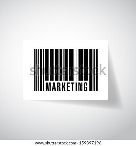 word marketing barcode upc. illustration design graphic - stock photo
