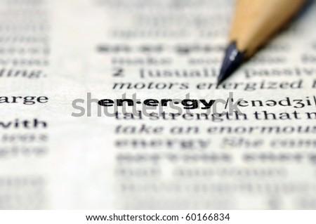 Word of energy. - stock photo