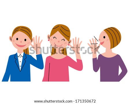 word?of?mouth communication - stock photo