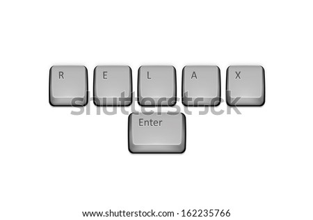 Word Relax on keyboard and enter key.