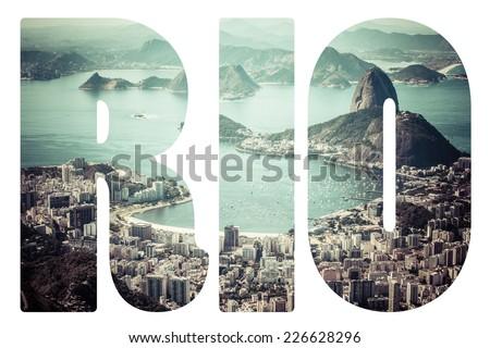 Word Rio de Janeiro, Brazil.  - stock photo