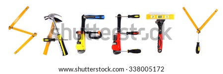 word safety made of tools - stock photo