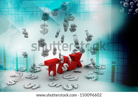 Word tax - stock photo