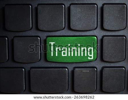 Word Training on computer keyboard - stock photo