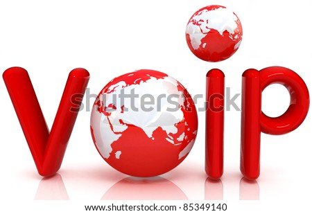 Word VoIP with 3D globe