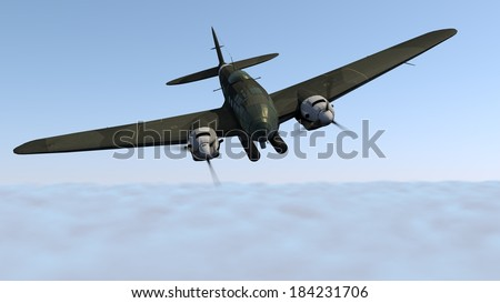 word war two german bomber - stock photo