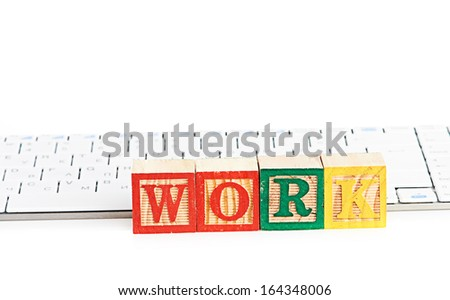 word work on keyboard