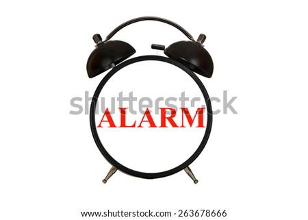 Word written on the alarm alarm clock isolated on white background - stock photo