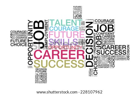 Wordcloud of Career, Success, Opportunity, Future, Talent, Skills - stock photo