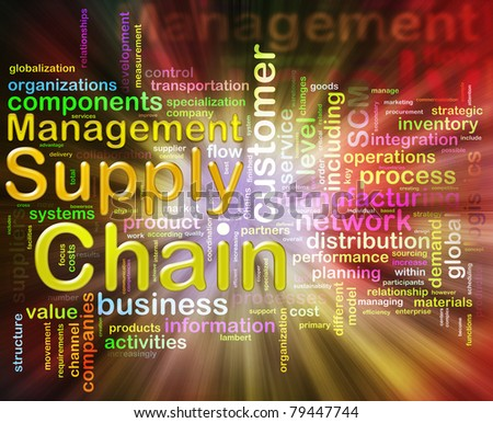 Words related to Chain supply management - stock photo
