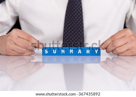 Words SUMMARY with blocks - stock photo