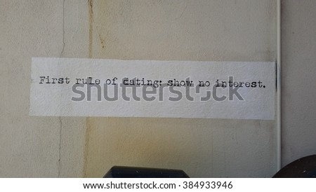 words tape to a wall