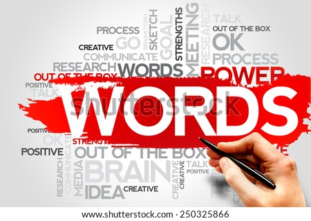 WORDS word cloud, business concept - stock photo