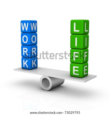 Work and Life Balance - stock photo