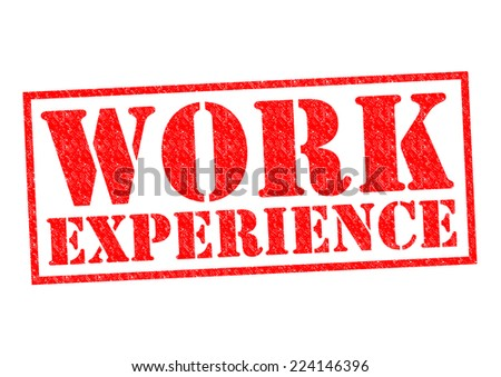WORK EXPERIENCE red Rubber Stamp over a white background. - stock photo