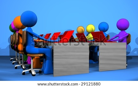work group - stock photo