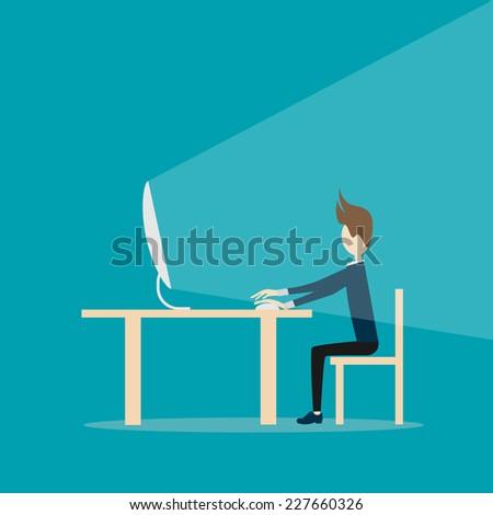 work hard - stock photo