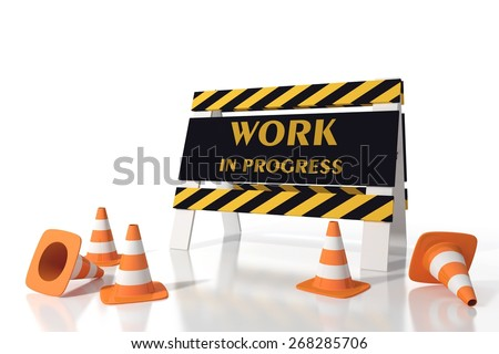 Work in progress in a road site - stock photo