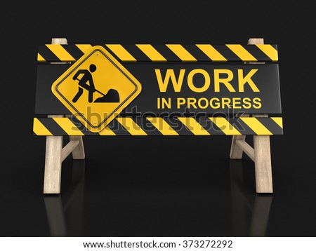 Work Progress Sign Image Clipping Path Stock Illustration