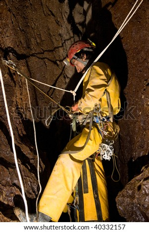 stock photo work in the cave 40332157 underground work stock images, royalty free images & vectors underground mining hard hats at sewacar.co