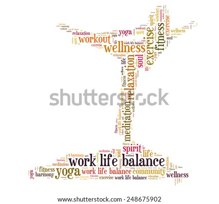 work life balance and wellbeing - stock photo