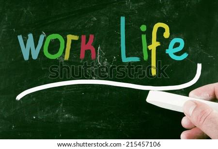 work life concept - stock photo