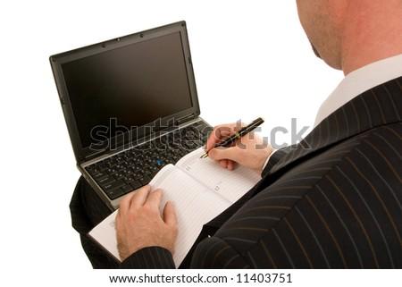 work on the laptop - stock photo