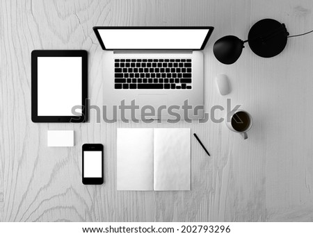 Work place - stock photo