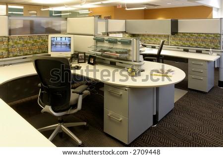 Work Station - Open Office - stock photo
