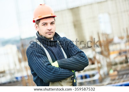 worker at building site - stock photo