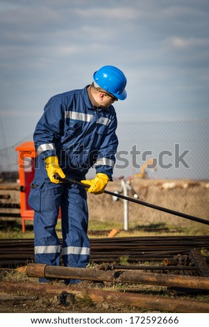 Worker at industrial plant