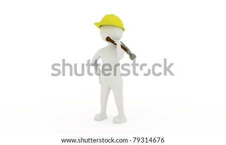 Worker with a hammer