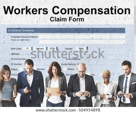 Workers Compensation Claim Form Insurance Concept Stock Photo