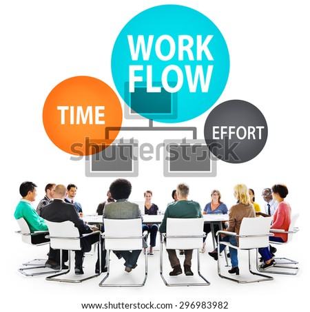 Workflow Effort Implement Efficiency Business Concept - stock photo