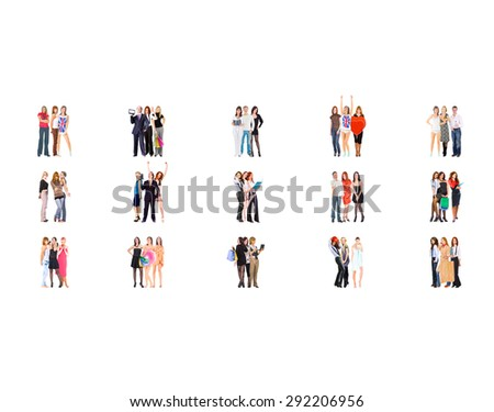 Workforce Concept Isolated Groups  - stock photo