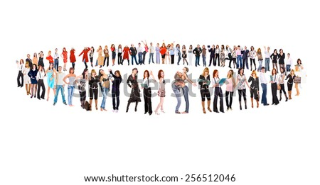 Workforce Concept People Diversity  - stock photo