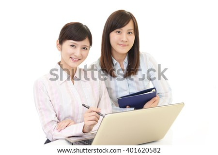 Working Asian business women