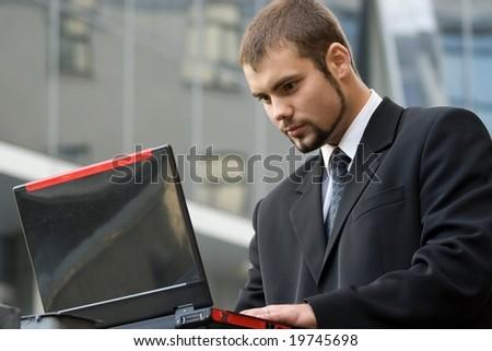 Working businessman. - stock photo