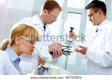 Working clinicians - stock photo