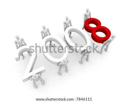 Working collective in the next year - stock photo