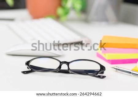 working desk - stock photo