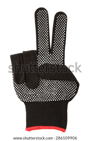 Working glove isolated on a white background. - stock photo